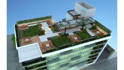 El Microcentro Suma Un Edificio Con Una Terraza Verde De 500