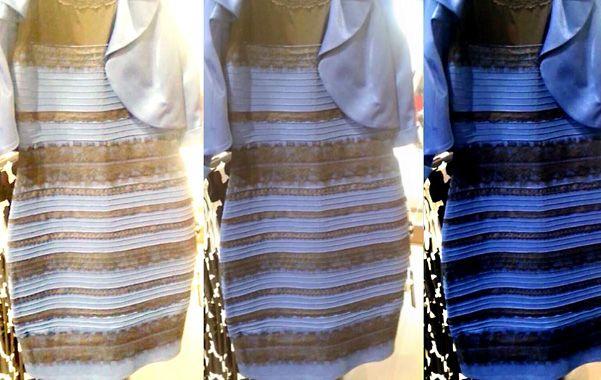 Enigma. El famoso vestido es negro y azul