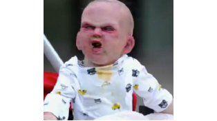 El bebé animatrónico que recorre las calles de Nueva York.