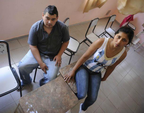 Sí se puede. Jonatan y Alejandra son alumnos de cuarto año de la Escuela Santa Lucía.