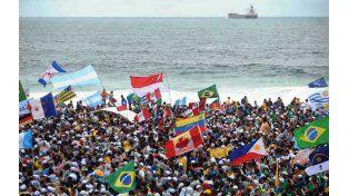 Parte de la religión. Tres millones de jóvenes católicos se congregaron en Río y ovacionaron al Papa Francisco.