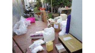 El gran golpe contra el tráfico de estupefacientes arrancó en la madrugada de hoy. (Foto: S. Meccia)