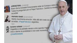 Los famosos publicaron en Twitter mensajes referidos al ascenso del Papa.