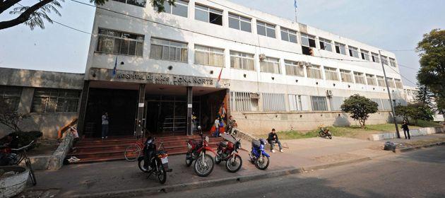 El chico fue atendido ayer en el Hospital de Niños Zona Norte.
