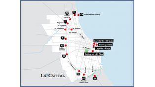El tránsito de Rosario colapsó por los innumerables cortes y piquetes.