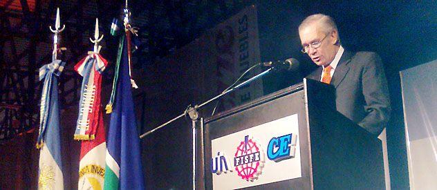 El presidente de Fisfe habló en la cena del Día de la Industria.