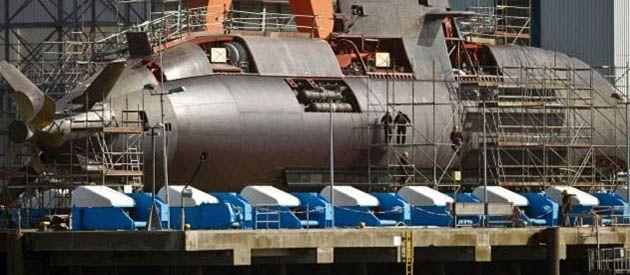 Uno de los submarinos Dolphin que se construyen en el astillero alemán de Kiel. Israel encargó seis buques. Los arma con un misil de tipo crucero propio