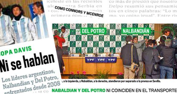En España alientan la pelea entre Del Potro y Nalbandian y dicen que ni se hablan