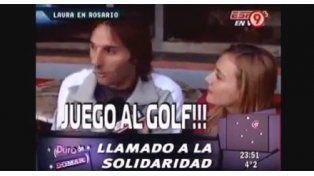 ¡Ups! Laura Azcurra no reconoció a Schiavi, él le siguió el juego y el diálogo fue desopilante