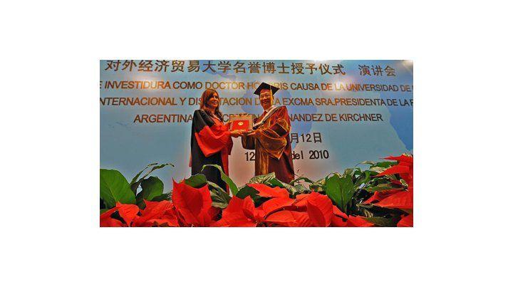 Cristina, doctora Honoris Causa en China: Es una distinción al pueblo argentino