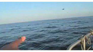 Pescadores de Galicia difundieron video de un presunto ovni que cayó al mar