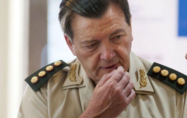 El exjefe del Ejército César Milani fue detenido esta tarde en la ciudad de La Rioja.