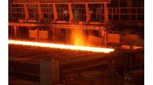 meseta. Los precios del acero bajaron entre 1