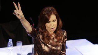 Cristina Fernández de Kirchner en el teatro Ateneo