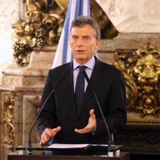 El anuncio del presidente se dio en la Casa Rosada.