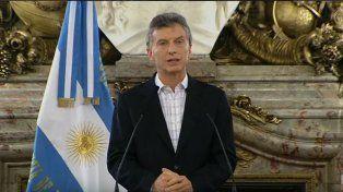 El presidente hizo el anuncio desde Casa Rosada.