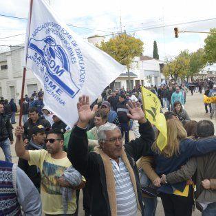 Una de las manifestaciones que se realizaron durante el largo conflicto en Las Rosas. (Foto: La Capita/S. Salinas)