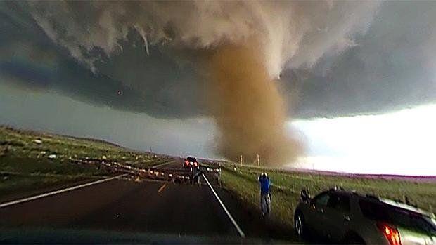 Un tornado fue filmado con una cámara 360 en el estado de Oklahoma