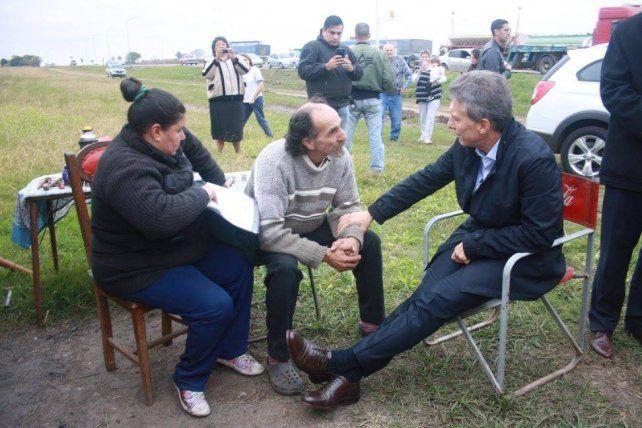 Macri visitó a Alfredo Farías