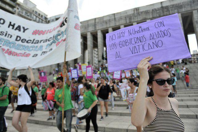 La marcha Ni Una Menos convocó a una multitud.