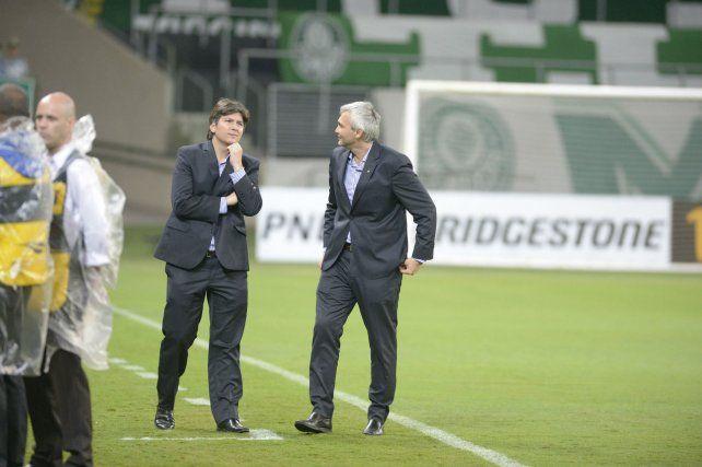 Ricardo Carloni (derecha) junto al vicepresidente primero