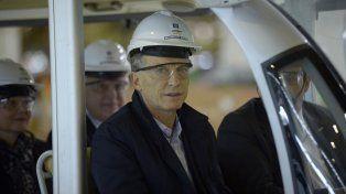 El presidente Mauricio Macri visitó la planta de Alvear.