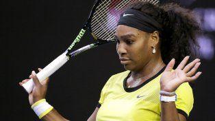La tenista Serena Williams se indigestó con la comida para perros que figuraba en la carta del hotel.