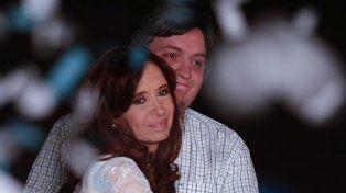Cristina Fernández de Kirchner y su hijo Máximo
