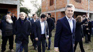 En obras. Macri dio el presente en el conurbano bonaerense.