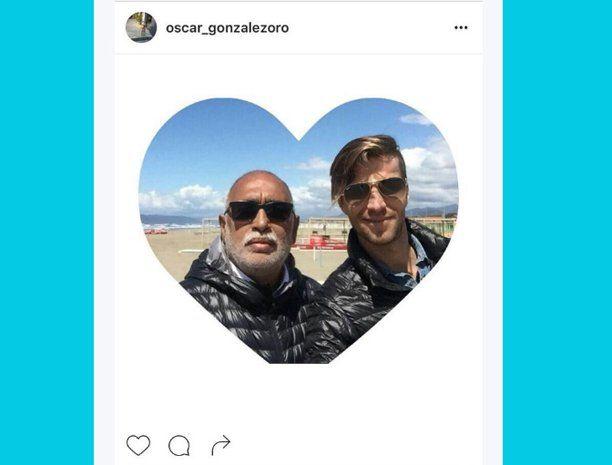 El Negro González Oro y su novio.