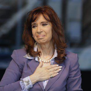 La expresidenta Cristina Fernández de Kirchner.