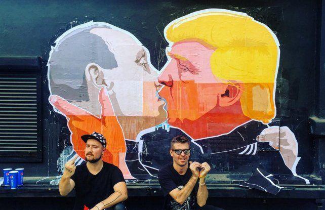 La imagen del mural dio la vuelta al mundo en las redes sociales.