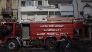 Siniestro. El 3 de febrero pasado un incendio intencional destruyó un edificio de Laprida 972.