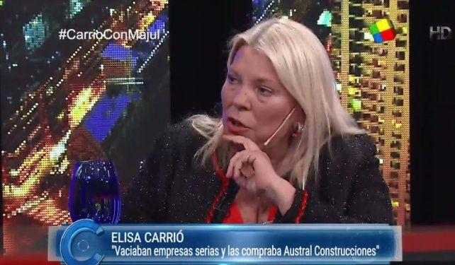 Elisa Carrió contó la conversación que tuvo con Mauricio Macri.