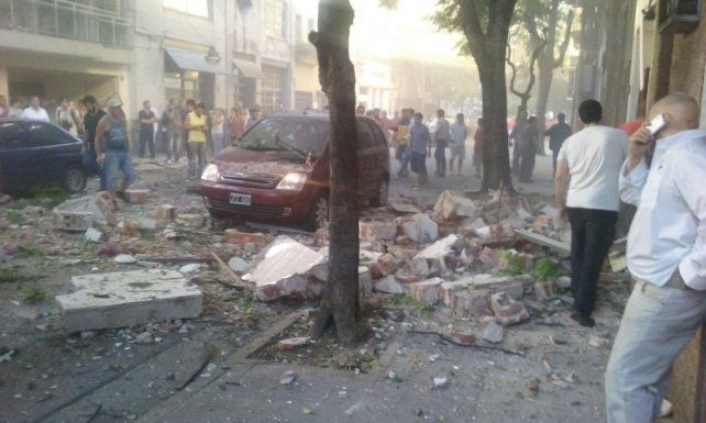 La explosión de calle Balcarce se debió a la acumulación de gas entre las paredes