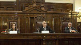 La Corte Suprema de Justicia presidida por Ricardo Lorenzetti. (Foto La Capital/Archivo)