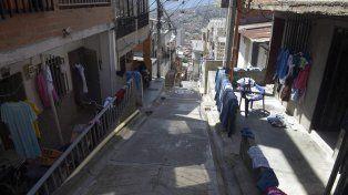 Una vista del intrincado barrio.