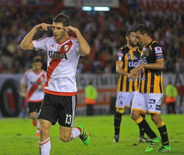 Goleador. Lucas Alario.