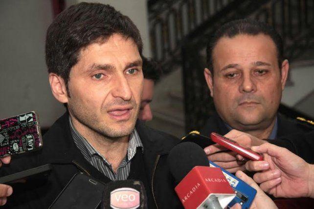Ministro y jefe. Maximiliano Pullaro y Luis Bruschi