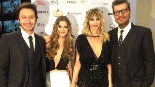 Noche de estrellas. China Suárez y Guillermina Valdés acompañadas por sus parejas