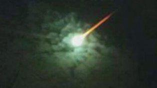 El objeto extraño apareció sobre el cielo de Pinamar.
