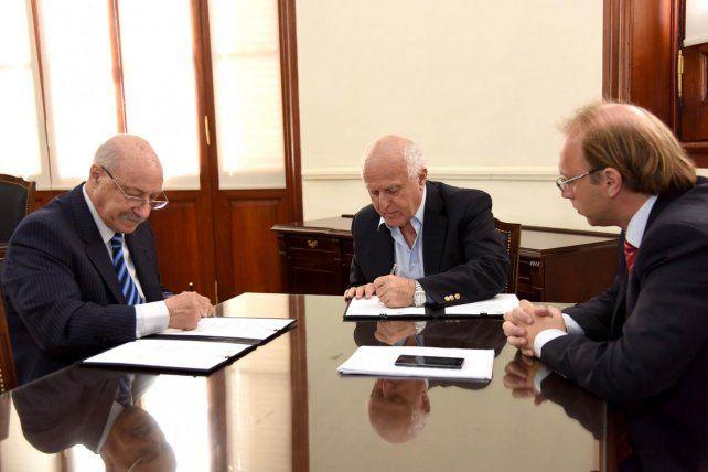 El gobernador Lifschitz y el ministro de Economía