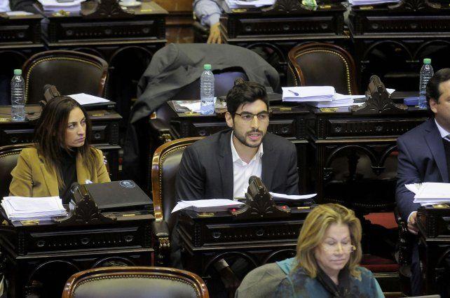facundo Moyano habló en el recinto de Diputados.