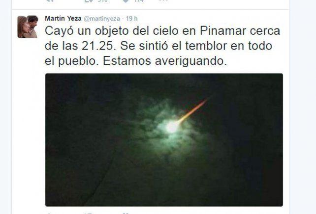 sorpresa. El tuit del intendente de Pinamar