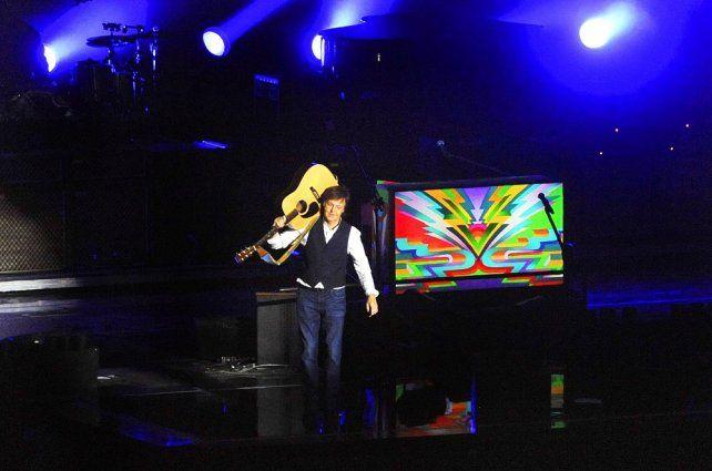 El exBeatle se lució en el show en La Plata.