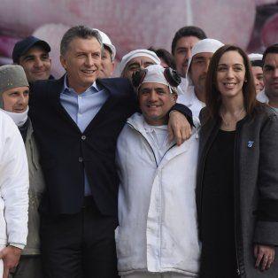 Mauricio Macri anunció el veto de la ley antidespidos hoy en la empresa Cresta Roja junto a la gobernadora María Eugenia Vidal.