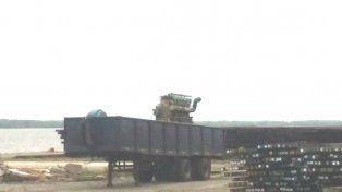 Encontrado. El motor de más de 12 mil kilos destinado para trabajo en el taller escolar.