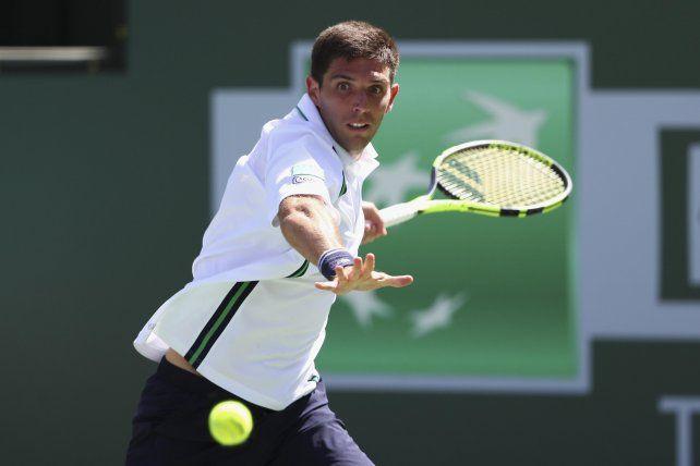 El 32. Delbonis entró como último preclasificado al cuadro por la baja de Federer.