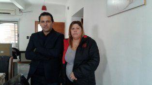 sin temores. El abogado Fausto Yrure y Lorena Verdún