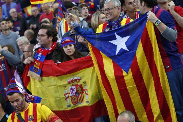 Las esteladas habían sido prohibidas en el Vicente Calderón